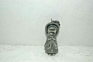 Joan Walsh Anglund Christmas Ornament Sterling Silver: Girl 1973 Vintage