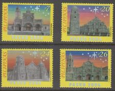 Philippine Stamps 2006 Christmas (Churches foil stamps) Complete set MNH