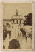 Cappella Royale Château Amboise Francia Foto Boisselier Vintage Albumina c1880