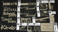 SCRAP FX Chipboard 'SCHOOL' Embellishments Education (Choose from 47 designs)