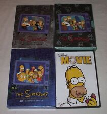The Simpsons DVD First, Second, Fourth Seasons & Movie Cartoon Comedy