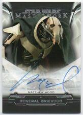 2019 Star Wars Masterwork Autographs A-MW Matthew Wood General Grievous Auto
