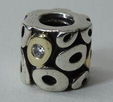 Original Pandora 790431CZ Zephyr Element 925 Silber Gold Charms Nr.22