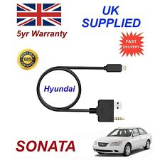 For Hyundai Sonata iPhone 5 6 7 8 Audio AUX Music Interface 8 pin Charge cable