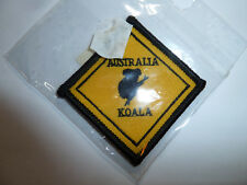 Australia Koala sign fabric patch sewing crafting cute animal drop bear NEW!