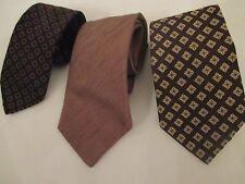 Three Gentlemans Vintage Brown Ties