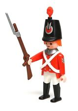 Playmobil Figure British Military Red Coat Soldier Bayonet Rifle Hat HTF 3054