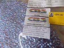 "Dichroic Glass Sheet:CBS 90COE - Silver Crinklized on Granite Ripple Clear 3""Sq"