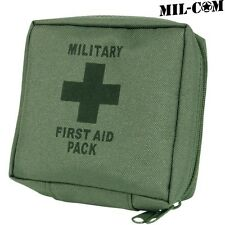 MIL-COM MILITARY FIRST AID KIT SURVIVAL DRESSING BANDAGE SCISSORS PINS CAMPING