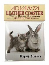 Grey Persian Cat Single Leather Photo Coaster Animal Breed Gift AC-12SC