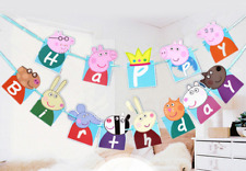 3 Meter Cute Peppa Pig Party Flag Banners Supplies Bunting Kids Fun Birthday