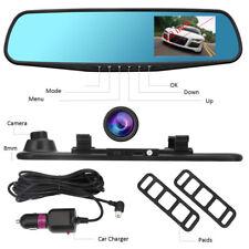 "Full HD 1080P 3.0"" Lens Cars DVR Rear View Mirror Dash Cam Video Camera Recorder"