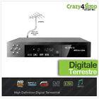 DECODER DIGITALE TERRESTRE AUDIO MPEG4 DVB-T2 RISOLUZIONE HD RICEVITORE HDMI USB