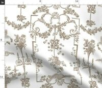 Flowers Floral France French Toile Wedding Spoonflower Fabric by the Yard