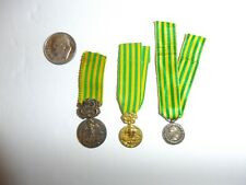 z38 Original French Indochina Vietnam mini medal Commemorative D'Indochine WC2