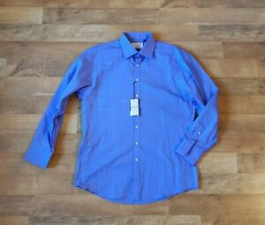 """New THOMAS PINK 17 - 35 """"The Sterling"""" solid blue MOST RECENT LABEL shirt"""