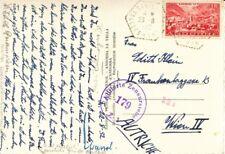 1952, Andorra - Ak (mit Mi.Nr.133) Österreichischer Zensurstempel, gelaufen