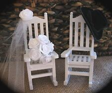 Country Western Cowboy Themed Rocking Chair Cake Topper