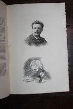 1900 Mariani Uzanne Eugèbe Carrière peintre eau-forte Dautrey autographe