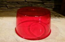"""NOS Vtg Signal-Stat 375 Red Large Dome Lens Beacon 10-7/8"""" Dia Police Fire Light"""