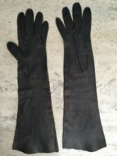 Vintage Leather Gloves Womens Brown Elbow Length Size 6.5 Marshall Field France