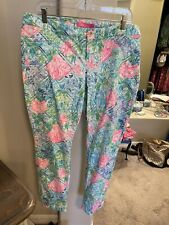 Lilly Pulitzer Euc Holy Grail Kelly Pants Bohemian Queen 14