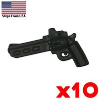 LEGO Guns Revolver Pistol Handgun Scoped Lot of 10 Army Military Weapon Pack