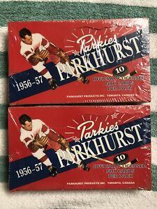 (2) 1956/57 PARKHURST REPRINT HOCKEY SEALED BOXES Auto Are 1 / 252 pks FREE SHIP