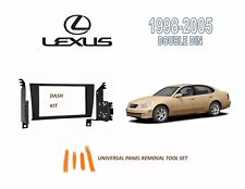 NEW Fits 1998-2005 LEXUS GS SERIES Car Stereo Double DIN Dash Kit, Tool Set