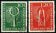 Germany 1955 Westropa Semi-Postals Postally Used Scott's B342 & B343 Set #1