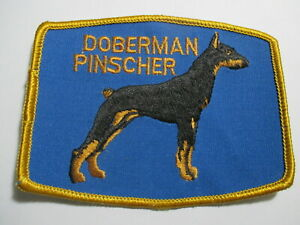 Doberman Pinscher  Patch  NOS Vintage  Original  4 x  3 1/8  INCHES DOG