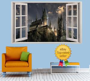 Harry Potter - Castle Hogwarts Wizard 3d Effect Window Wall View Sticker Poster
