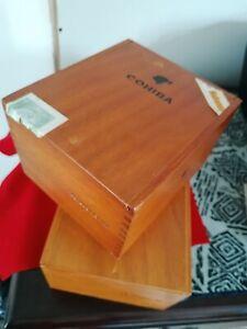 2 x Used and empty COHIBA La Habana, 25 SIGLO IV Wooden Cigar Box With Labels