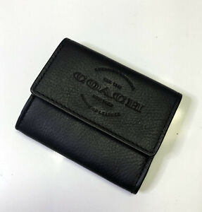 Coach F24652 Natural Pebbled Leather Credit Card Wallet / Coin Case