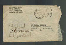 1919 US Army Soldier Cover AEF Siberia Russia Allied Expeditionary Force Infantr