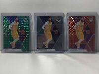 19-20 MOSAIC BASKETBALL (LOT OF 3) ANTHONY DAVIS GREEN/ORANGE/BASE PRIZM LAKERS