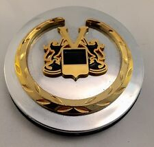 VOGUE Custom Wheel Center Cap 11498 1 Chrome with Gold Wreath and Crest