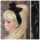 BLACK SEQUIN FABRIC BENDY WIRE HAIR WRAP WIRED HEADBAND SCARF STYLE RETRO GLAM