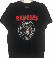 Ramones 1234 Mens Shirt Size L 40/42 Black Red