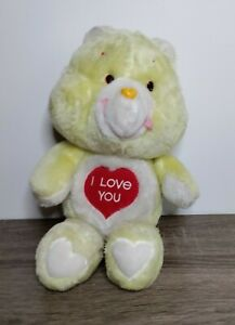 "limited edition Rare Vintage 1980's Maverick Yellow ""I Love You"" Care Bear"