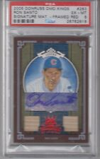 2005 Donruss Diamond Kings Ron Santo Framed Red Signature Bat /50 Chicago Cubs