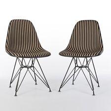 Herman Miller Pair Vintage Eames DSR Side Chairs Toostripe Alex Girard Fabric