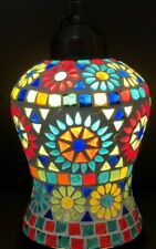 Glass Ceiling Tiffany Style Lamp Pendant Multicolor Mosaic Hand Made Art Glass