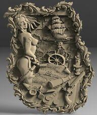 STL 3D Models # WOMEN & SHIP # for CNC Aspire Artcam 3D Printer