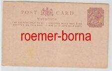 75173 seltene Ganzsachen Postkarte Mauritius 2 Cents Braun um 1900