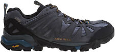 NEW Merrell Capra Waterproof Gray Leather Low Hiking Shoes MENS SZ 10 Turbulence