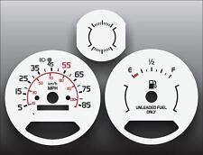 1976-1979 Chevrolet Chevette 85 Mph Dash Instrument Cluster White Face Gauges