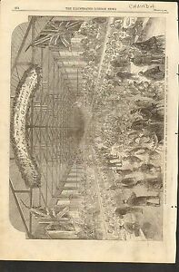#01-0089 3/15/1862 ANTIQUE PRINT (CANADA) - BANQUET - HER MAJESTY'S TROOPS