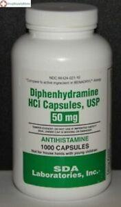Major Diphenhyd 50mg Capsule 1000 ct