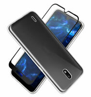 SDTEK Coque pour Nokia 1.3 + Protection écran Complet Verre Cover